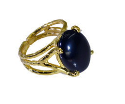 charming Black onyx Gold Plated Black Ring genuine usual US gift - $12.99