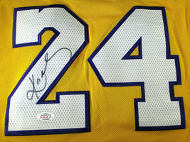 KOBE BRYANT / NBA HALL OF FAME / AUTOGRAPHED L.A. LAKERS PRO STYLE JERSEY / COA image 3
