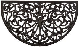 Kempf Half Moon Shaped Rubber Scroll Doormat, 18 by 30 by 0.5-Inch - $20.46
