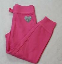 Childrens Place Girls Pants Sz 5 6 Pink Sweatpants Glittery Heart Casual... - $17.81