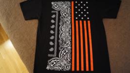 USA, American Flag, Bandana, NEW/MINT, Large Mens T-Shirt - $8.95