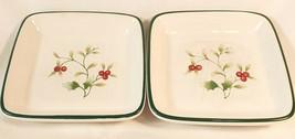 """2 Small  Pfaltzgraff Winterberry Platters - 4""""W x 4""""D x 1""""H (Approx) - $18.40"""