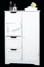 Bathroom Cabinet Storage Bedroom Wooden Cupboar... - $114.39