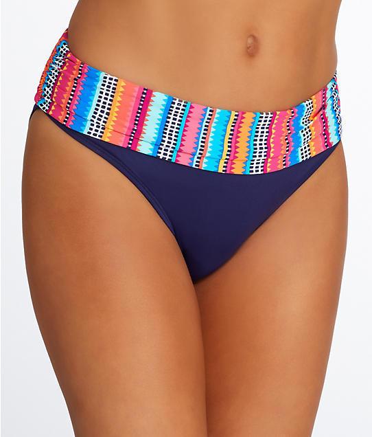 NEW Anne Cole Triangle Stripe Foldover Swim Hipster Bikini Bottom XS XSmall - $14.80