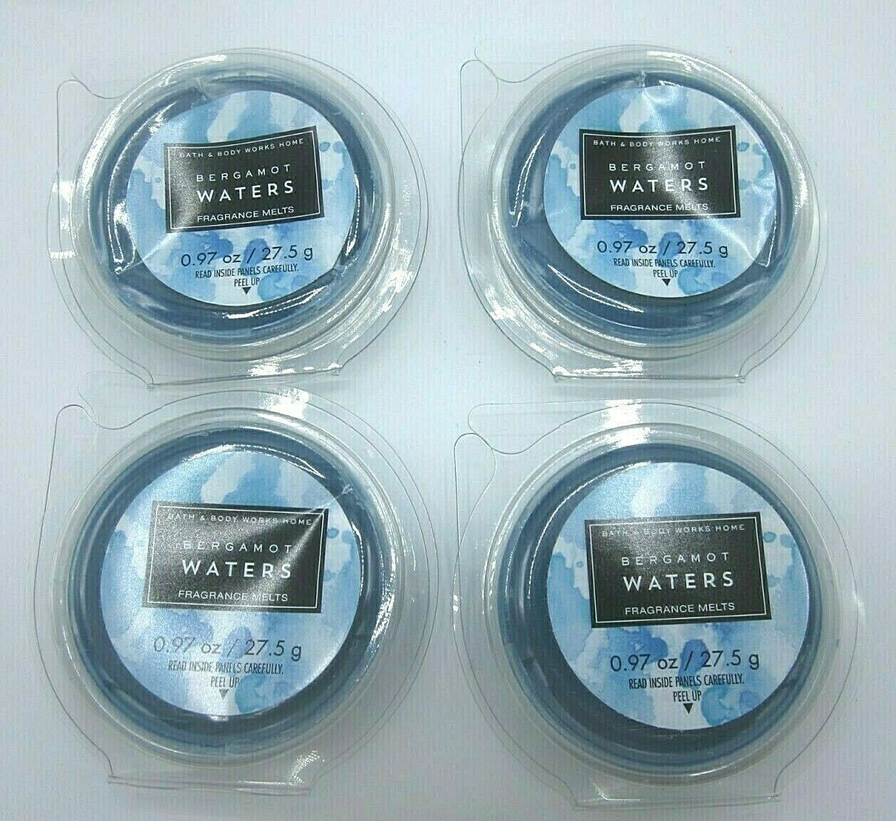 4 packages Bath & Body Works Home Fragrance Wax Melts Bergamot Waters