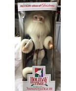 1991 TELCO MOTION-ETTES of CHRISTMAS Animated Santa Holding Lighted Cand... - $34.64
