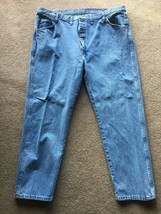 Men's Wrangler Denim Cotton Jeans Size 46 x 30 Big & Tall Medium Wash - $12.86