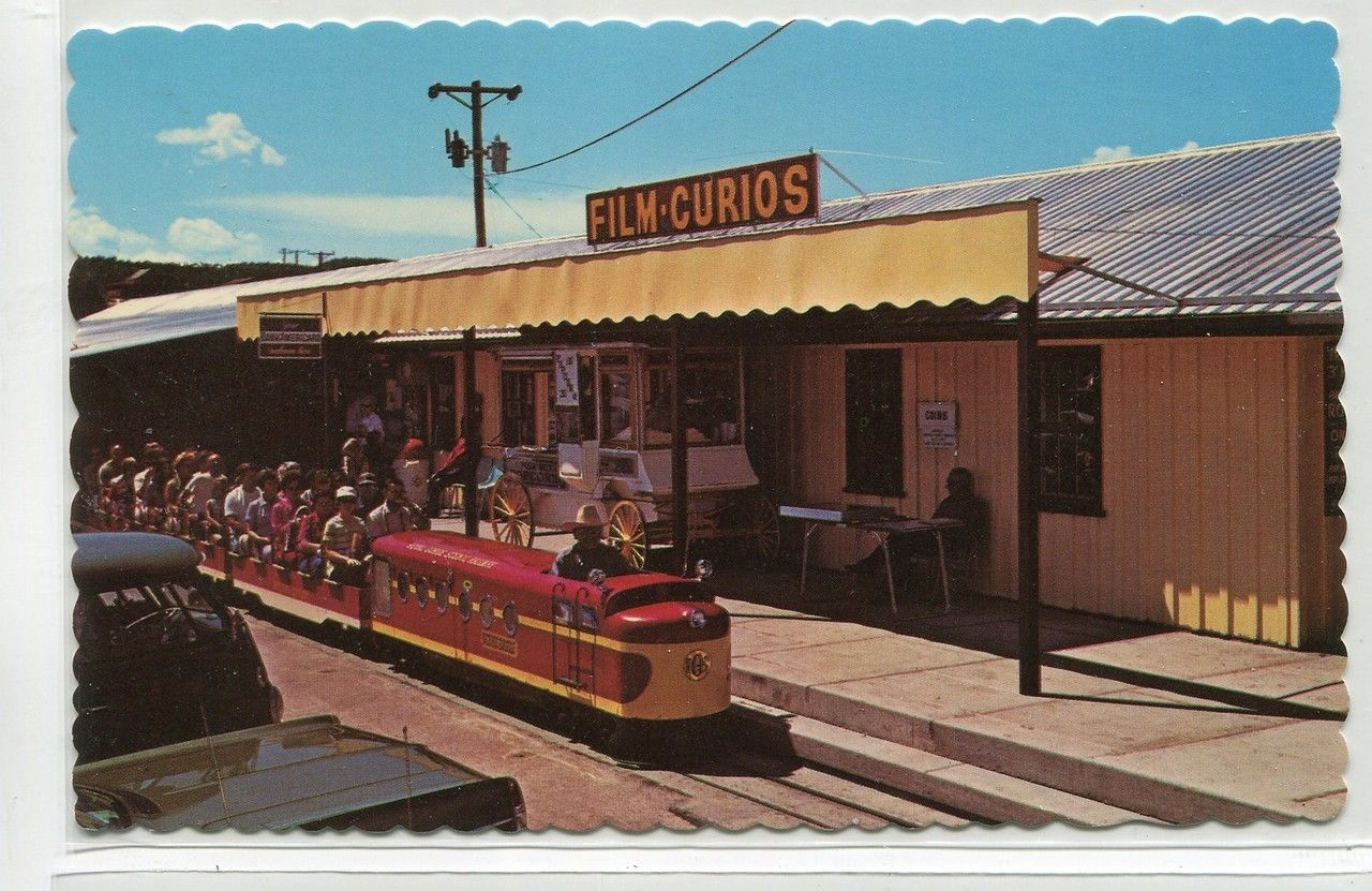 Royal Gorge Railway Miniature Train Colorado postcard
