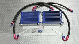 JDM Twin 15-Stage Oil Cooler Kit for RX-7 FD3S M/T A/T Can also be insta... - $1,713.85