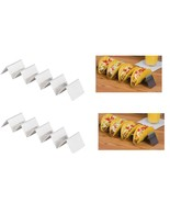2 PACK Stainless Steel Taco Holder Server Restaurant Quality Holds 4 Tacos Each - $13.73