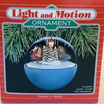 Hallmark 1988 Skater's Waltz Keepsake Magic Light & Motion Ornament Watch Video - $18.71