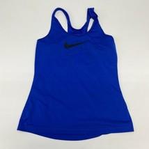 Nike Pro Athletic Tank Women's Medium Sleeveless Blue Racerback Polyeste... - $18.95