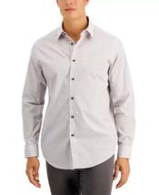 Tasso Elba Men's 100% Cotton Grattugia Square Line Shirt Purple Combo-2XL - $17.99