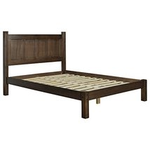 Modern Transitional Solid Pine Wood Platform Bed - Includes Modhaus Livi... - $366.27