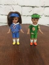 Alexander Dolls Toys Soccer Players Lot Of 2 Boy Girl  - $11.88