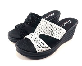 Skechers 31778 Memory Foam Wedge Platform Slip On Sandals Choose Sz/Color - $46.00