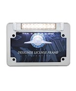 United Pacific 110211 White 8 Led Motorcycle License Plate Frame(Back-Up Light) - $52.60