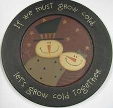 Wood Plate 32181G - Snowman Plate  - $10.95