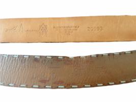 Lot 4 Martin Dingman Men Crocodile Hand Crafted USA Leather Belt 40 LEN Lizard image 7