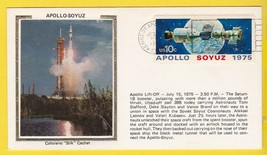 Apollo-Soyuz Apollo Lift-Off肯尼迪SPC CTR,FL 7/15/1975 Colorano Silk  -  $ 2.98