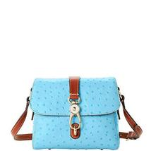 Dooney & Bourke Ostrich Ashley Small Messenger Bag Pool Blue