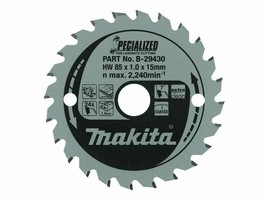 NEW Makita B-29430 85mm x 15mm x 1.0mm 24T Specialized Saw Blade - $16.16