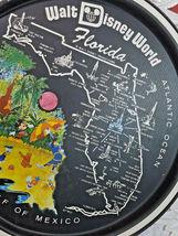"""Vintage 1970's Walt Disney World Florida Round Tin Metal Tray Souvenir 11"""" image 4"""