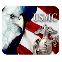 Mouse Pad USMC Eagle Bird In Beautiful Flag For Nature Game Animation Fantasy - $9.00