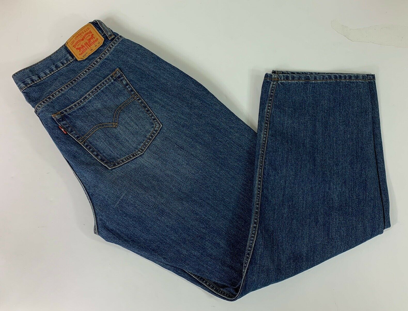 LEVI  550 BOY'S RELAXED FIT JEANS 18 Husky 36 x 29  image 4