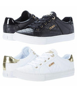 Women's GUESS Loven Quilted Lace-Up Casual Low Top Sneakers - $64.99