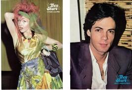 Cyndi Lauper Rick Springfield teen magazine pinup clipping Tiger Beat Bop