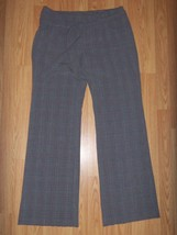 Women OLD NAVY Plaid Trouser SLACKS Pants Belted 6 CUTE - $11.65