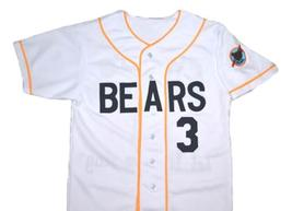 Bad News Bears Movie #3 Button Down New Men Baseball Jersey White Any Size image 3