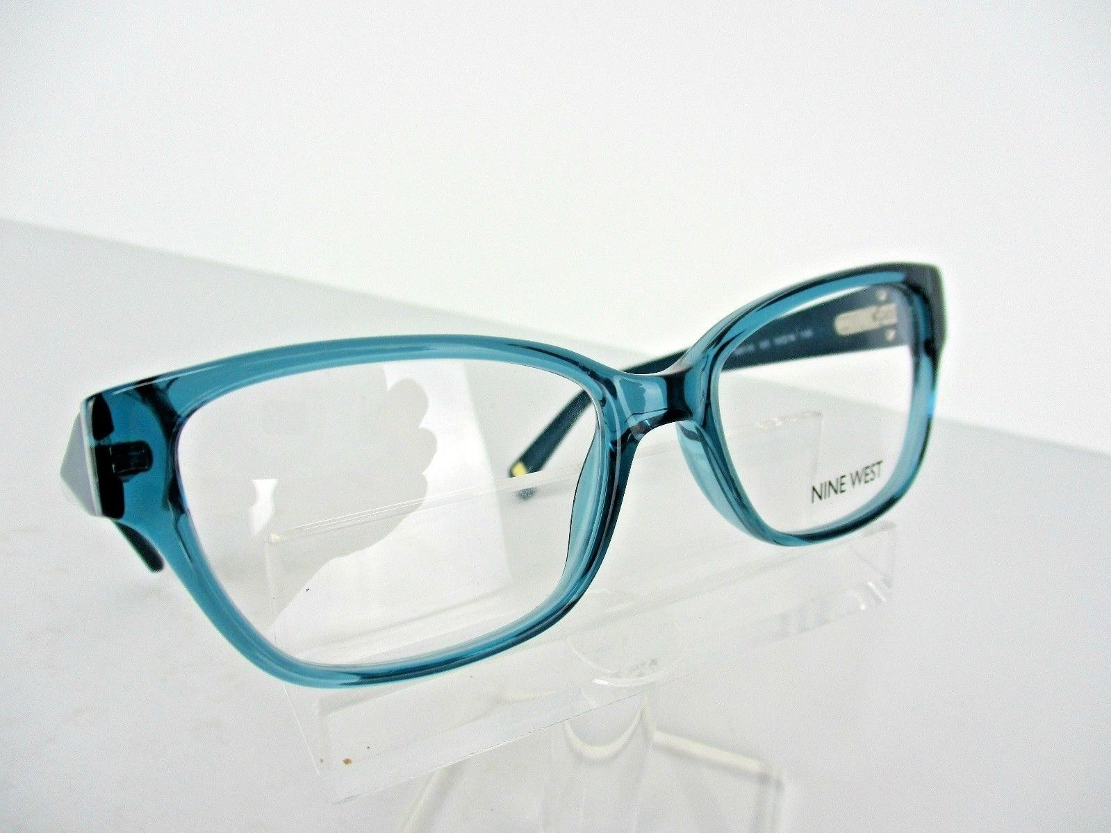 2acfd55296 Nine West NW 5105 (320) Crystal Teal 48 x 16 135 mm PETITE Eyeglass Frame -   65.41
