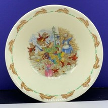 Bunnykins bowl collectible royal doulton bunny rabbit england dish vintage mcm - $29.65