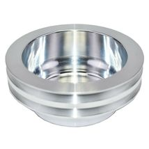 Chevy Small Block Long Water Pump Double Groove Aluminum Crankshaft Pulley image 5