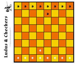 CHECKERS & LUDUS LATRUNCULORUM has 2 classic games in one box: Checkers ... - $8.95