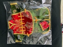 Asian Silk-Like Doll Dress in Wrapping - New - $0.99
