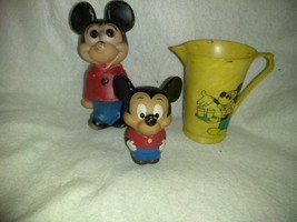 Walt Disney's Mickey Mouse Gift Set, 2 Figures Mickey Mouse, Juice Pitcher - $15.49
