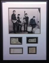 """The Beatles 1962 Vintage Signed 19.5""""x25.75"""" Display John Paul George Pete - $14,999.99"""