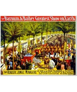 Barnum & Bailey Greatest Show on Earth Vintage Circus Poster Reproduction - $33.99+