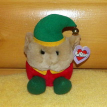 Puffkins Plush Red & Green '99 Elvin Elf with Bell Topped Cap MWT - $7.77