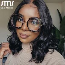 Classic Metal Frame Glasses Women Retro Anti Blue Light Glasses Frame Men Oversi image 3