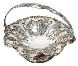 James Dixon & Sons Silverplate Ornate Victorian Basket Sheffield England... - $80.99