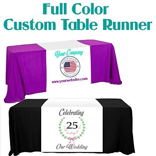 "Custom Table Runner 30"" Width Other Add Your Business Logo or Any Text, Free Bas"