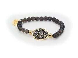 With Love Smoky Quartz & CZ Stone Bracelet - $92.66 CAD