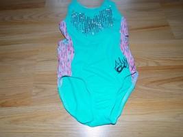 Child Size Small GK Elite Aly Raisman Gymnastics Leotard Aqua Marine Pin... - $25.00