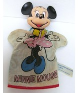 """MINNIE MOUSE HAND PUPPET Walt Disney Productions 10"""" Hand Crafted Vintage - $49.86"""