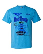 Boo-Berry box T-shirt Heather Blue Monster Cereal Frankenberry Chocula 50/50 tee image 2
