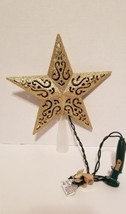 Christmas Tree-Top Star, Gold Glitter, 10-Light - $14.36